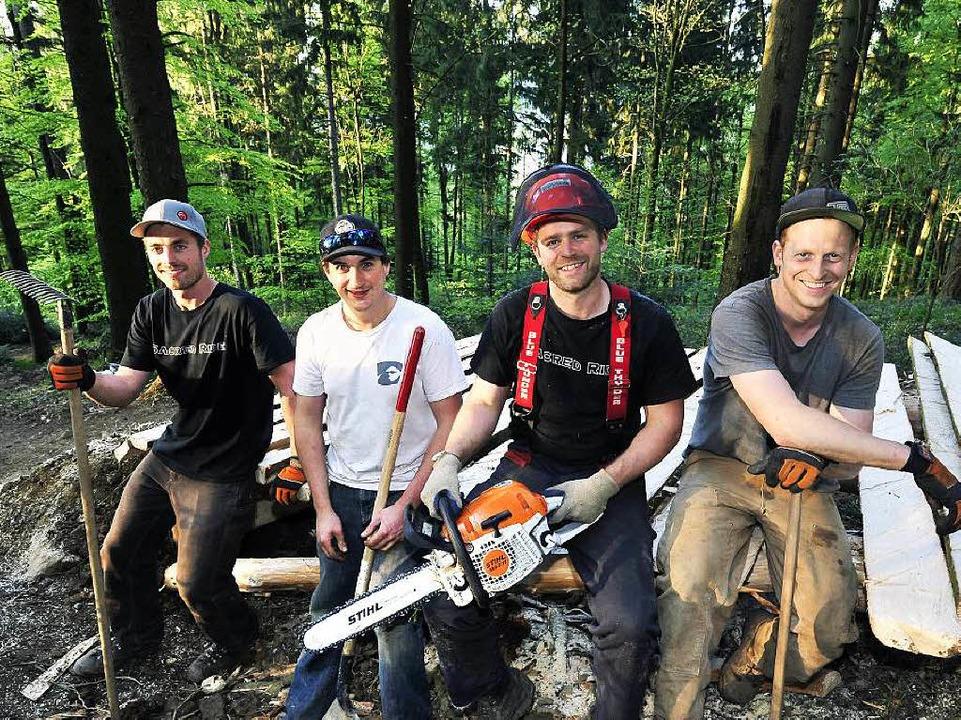 Die Stars der Szene, die Trail-Bauer a...Satanove, Kris McMechan und Eric Wahn.  | Foto: Thomas Kunz
