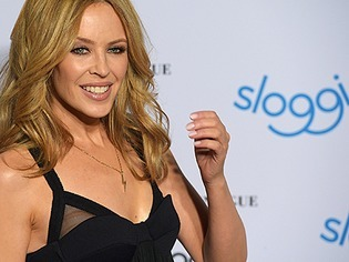 S�ngerin Kylie Minogue stellt Unterw�sche-Kollektion vor