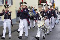 Aufmarsch der Historischen Bürgerwehr in Waldkirch