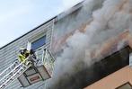 Fotos: Hochhausbrand in Emmendingen