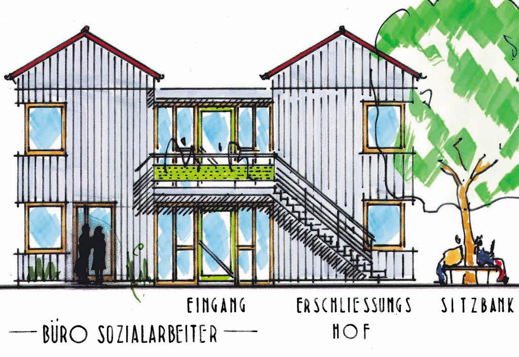 drei wohnh user und ein treffpunkt staufen badische. Black Bedroom Furniture Sets. Home Design Ideas