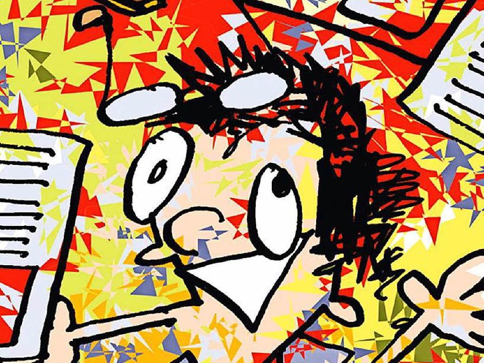 Normalerweise malt Jojo Lucy. Hier allerdings hat Lucy Jojo gemalt.   | Foto: Illu: Jojo Kügele