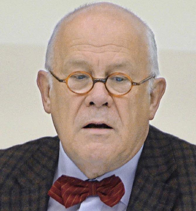 Jurist Hans-Jörg Birk kommt aus Stuttgart.   | Foto: Ralf H. Dorweiler