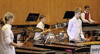 Musik auf Marimba im Theater Arlecchino