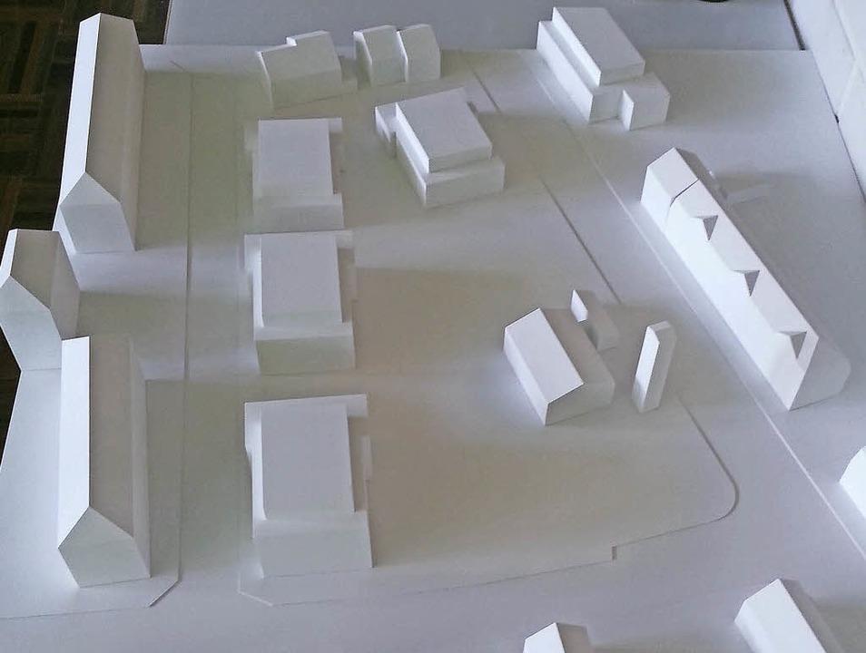 Das Modell, in das die Architektenbüro...nvestors auf dem Kindergartengelände.   | Foto: zVg