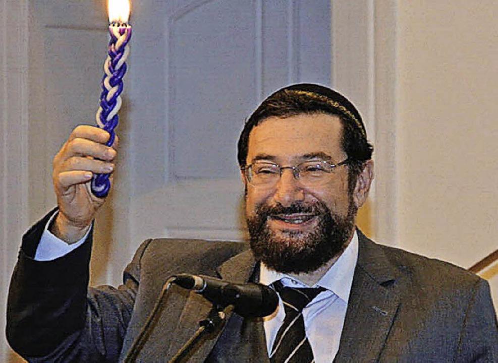 Moshe Navon wird   Landesrabbiner.   | Foto: Arsenij Schwarzbrehm