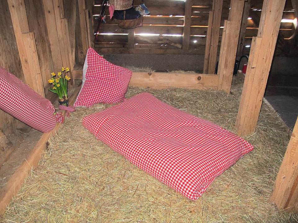 Übernachten im Heuhostel auf der Gummenhütte  | Foto: Privat