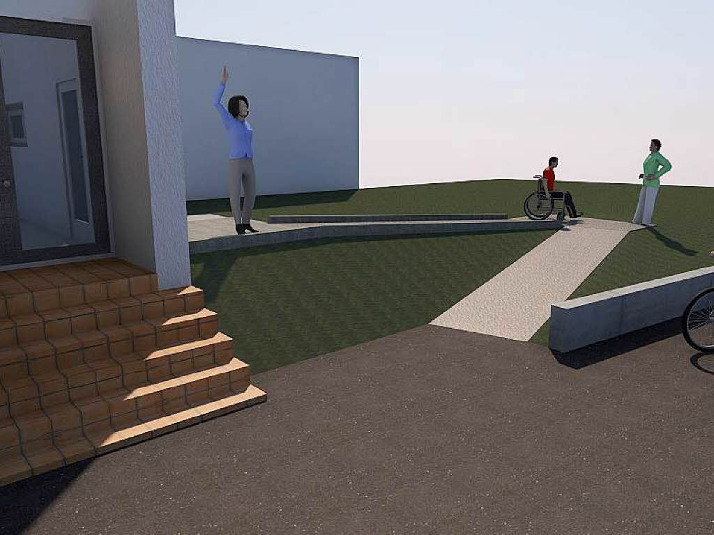 rollstuhlfahrer k nnen rampe nicht ohne hilfe nutzen. Black Bedroom Furniture Sets. Home Design Ideas