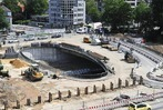Fotos: Vorarbeiten f�r den Abriss der Freiburger Kronenbr�cke