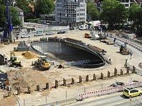 Gro�baustelle Kronenbr�cke: Vorbereitungen f�r den Abriss
