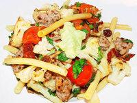 Salsiccia mit Makkaroni: Nudel trifft Wurst