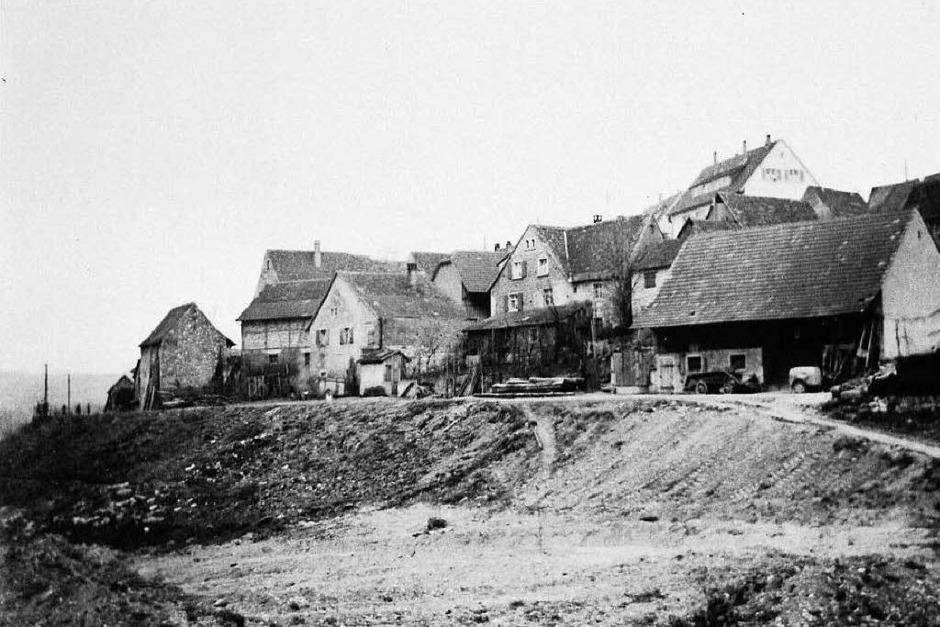 Das alte Dorf vor dem Autobahnbau (Foto: privat)