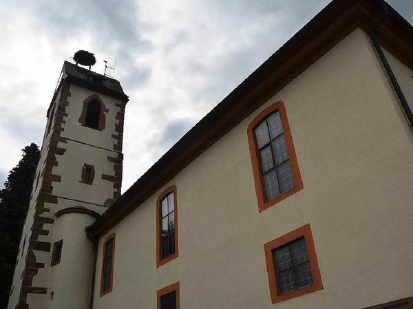 Auf dem Turm der evangelischen Kirche in  Gundelfingen wurden die Jungstörche beringt. Die Beringung übernahm Gustav Bickel unterstützt durch Dieter Engelbrecht.
