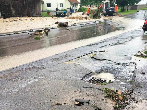 Überschwemmung in Boll
