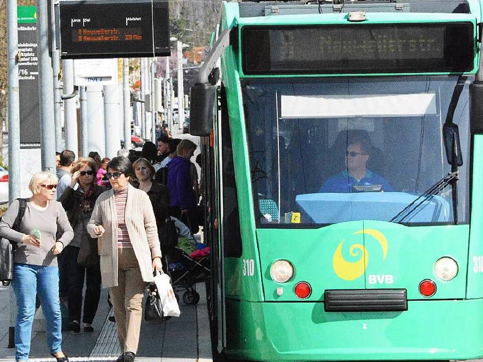 Die grenzüberschreitende Tram der Lini...d täglich von 8000 Fahrgästen genutzt.    Foto: Hannes Lauber