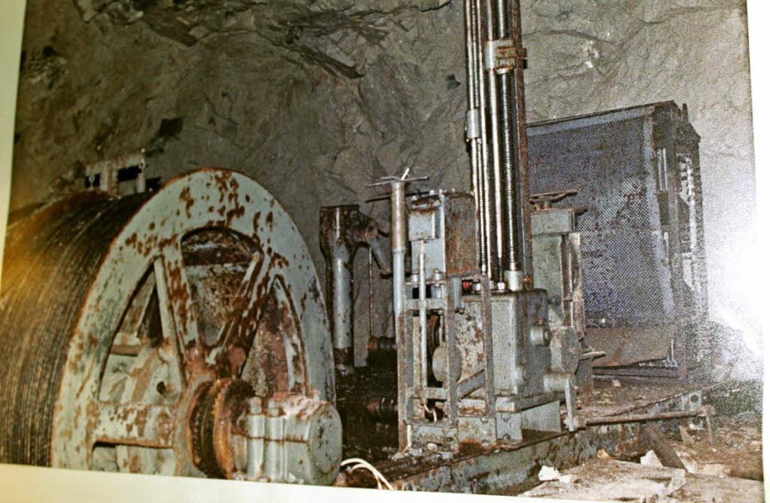 Relikt aus Bergbautagen in der Grube B...iefe,   die zuletzt Flussspat abbaute.  | Foto: Hermann Jacob