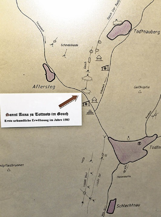 Einstieg zu St. Anna: Den Verlauf der ...rflinger in einer Karte eingezeichnet.  | Foto: Hermann Jacob