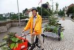 Mobile Gärten auf der Rheinbrücke