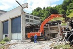Fotos: Abbruch der Stadthalle Zell