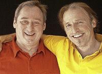 Jean-Pierre Albrecht und J�rg Kr�uter in der Winzergenossenschaft