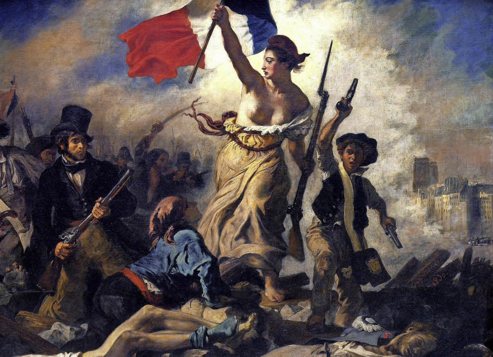 Die Freiheit, wie Eugène Delacroix sie 1830 gemalt hat.   | Foto: BZ