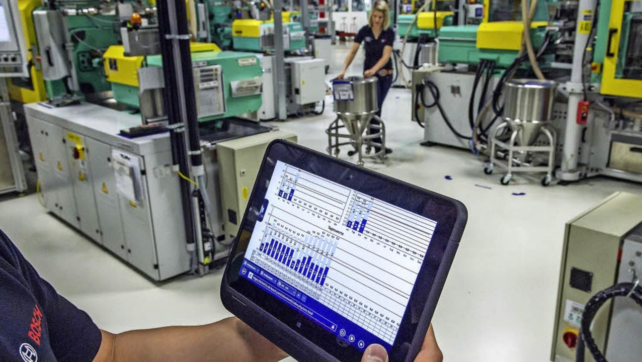 So sieht die Industrie der Zukunft aus – auch Industrie 4.0 genannt.  | Foto: dpa