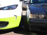 Duell am Berg: Elektroauto gegen alten Benziner