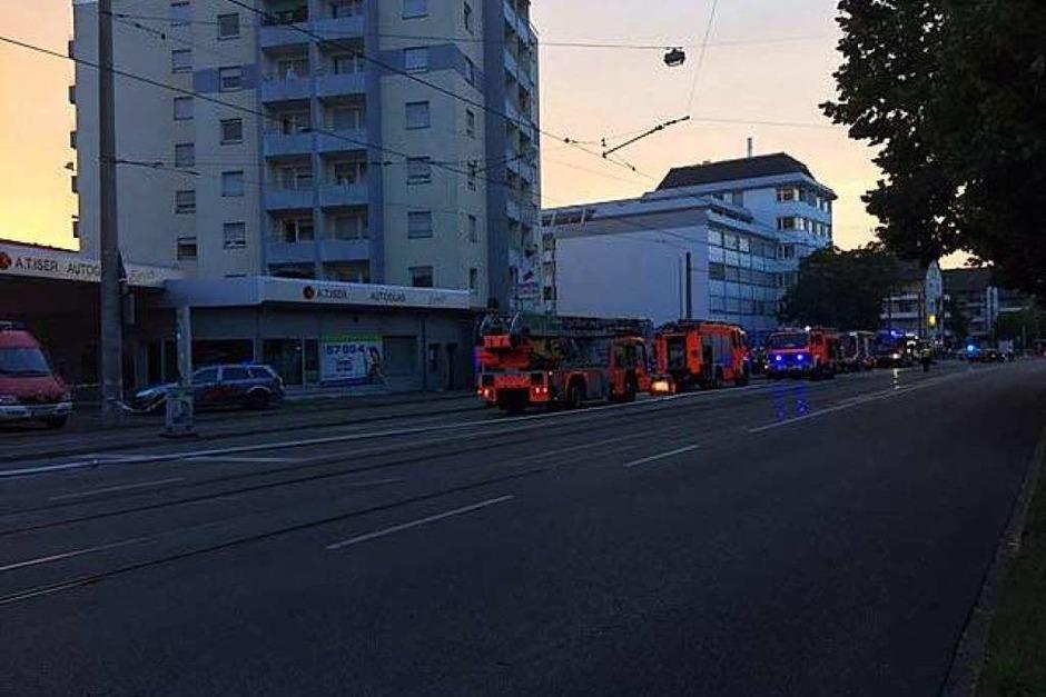 Brand in Zähringen (Foto: Adrian Hoffmann)