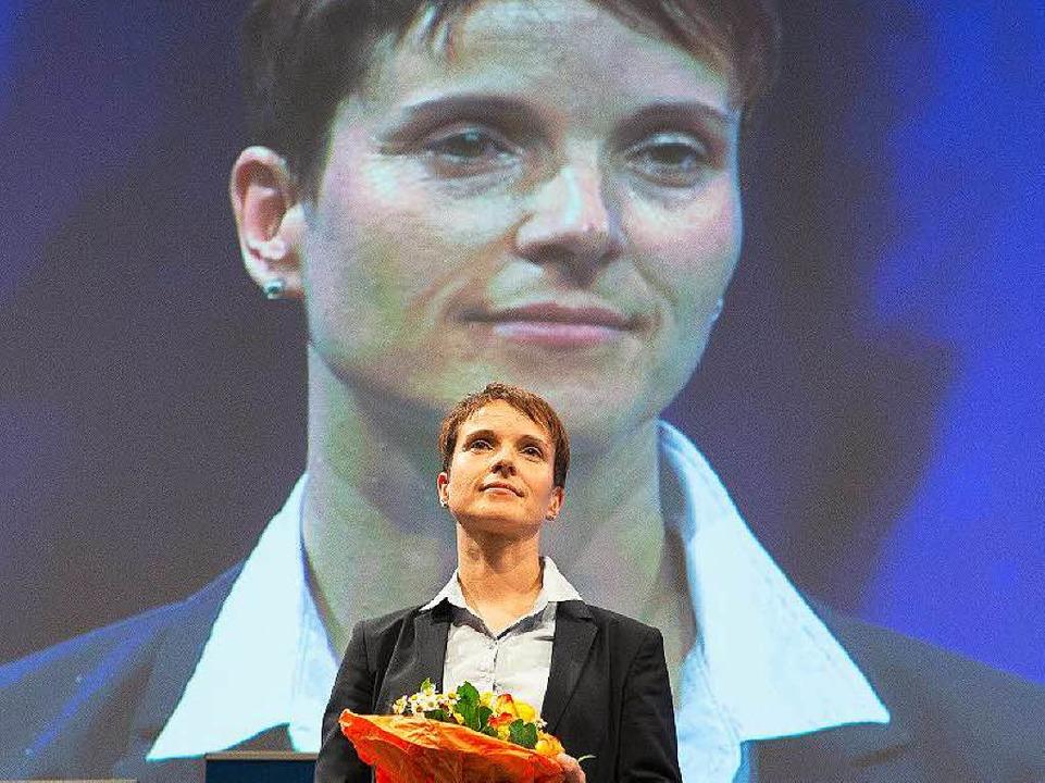 Frauke Petry ist nun die Frontfrau der AfD.  | Foto: dpa
