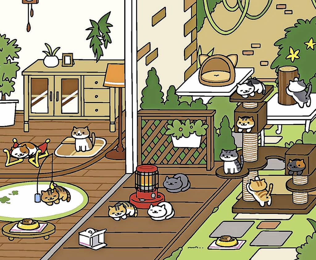im japanischen smartphone spiel neko atsume geht s darum. Black Bedroom Furniture Sets. Home Design Ideas