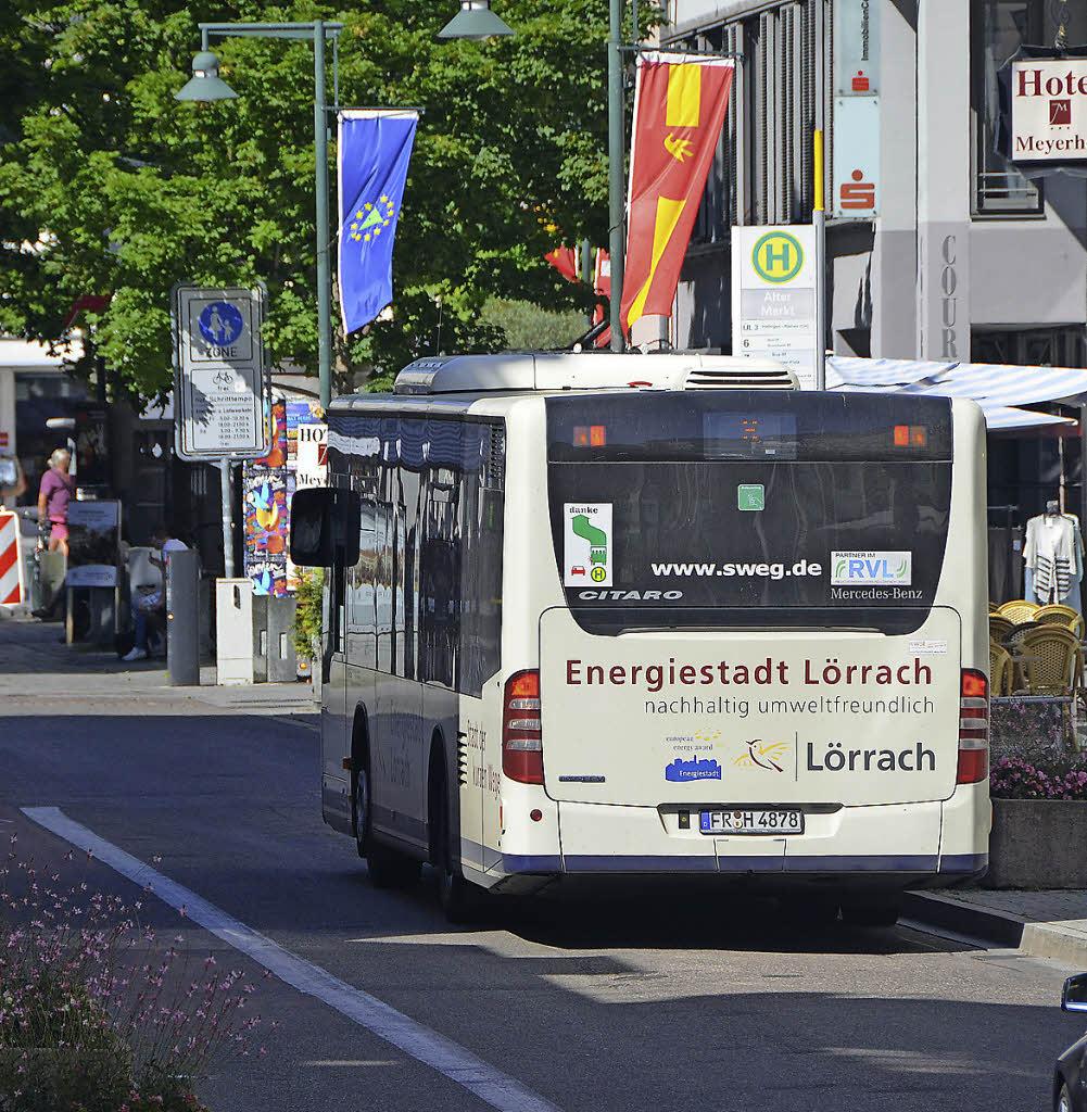 Grüne Welle für den Stadtbus - Lörrach - Badische Zeitung