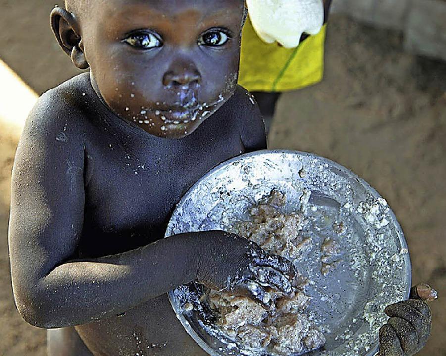 Viele Kinder im Südsudan sind von Hunger bedroht.   | Foto: dpa