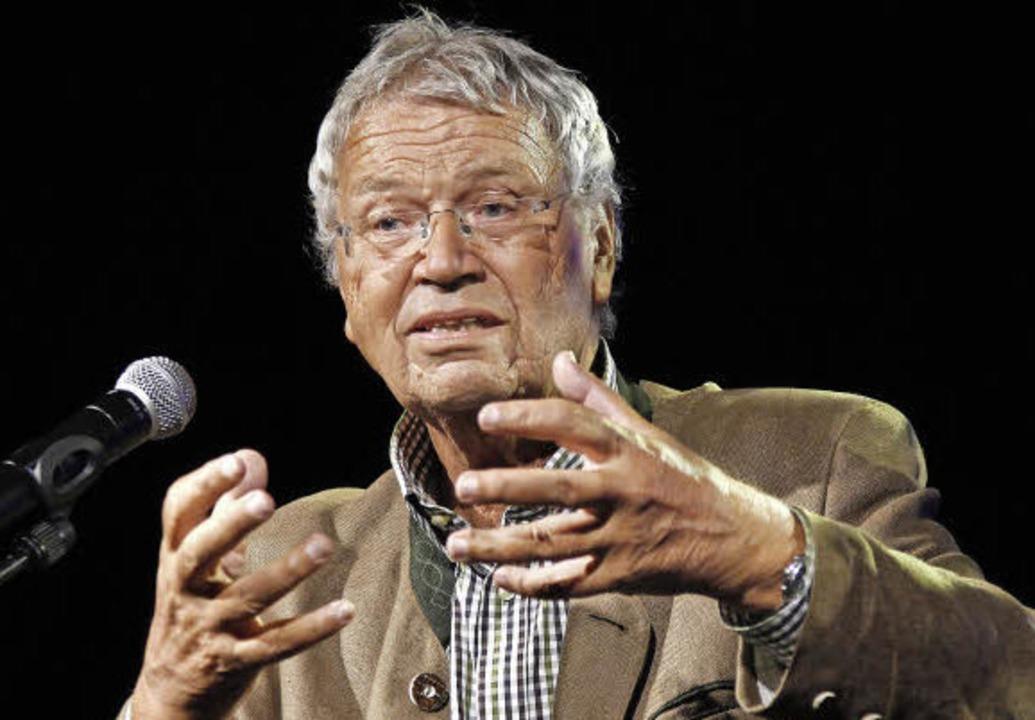 ZMF-Ehrenpreisträger Gerhard Polt bei Gala im Zirkuszelt.    Foto: Wolfgang Grabherr