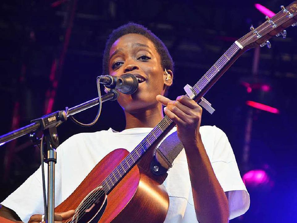 Die kamerunische Sängerin Irma    Foto: Barbara Ruda