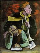 Karl Hofer, einer der erfolgreichsten Meisterschüler von Hans Thoma, in Bernau