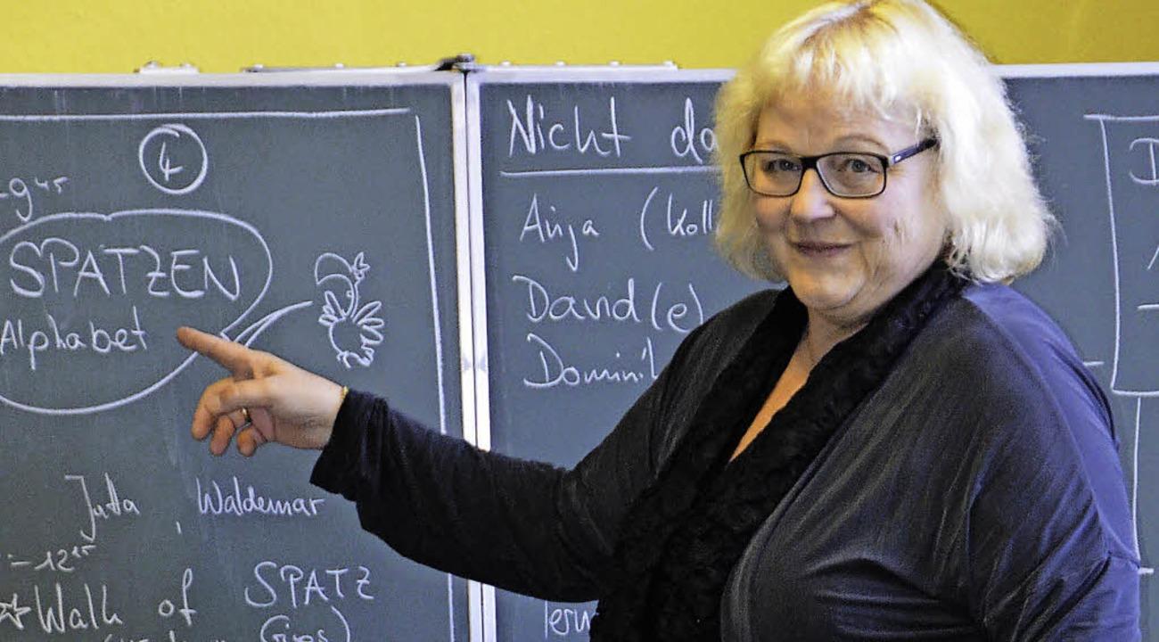 Schulgründerin Jutta Kraus freut sich schon aufs Schuljubiläum.  | Foto: Ralf Burgmaier