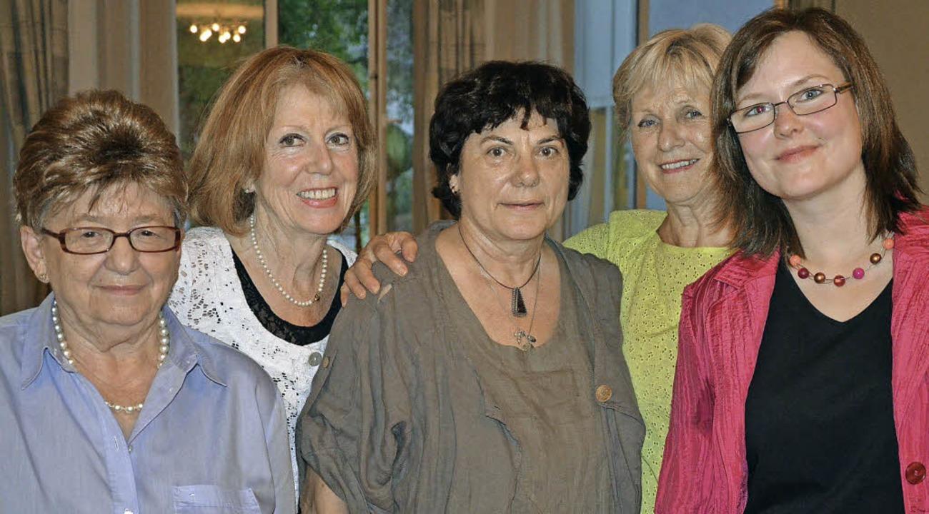 Treffen der CDU-Frauen aus Rheinfelden...Eckert und Vorsitzende Julia Lindner.   | Foto: Martina Proprenter
