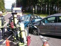 Unfall auf der Bundesstra�e bei R�tenbach - B 31 gesperrt