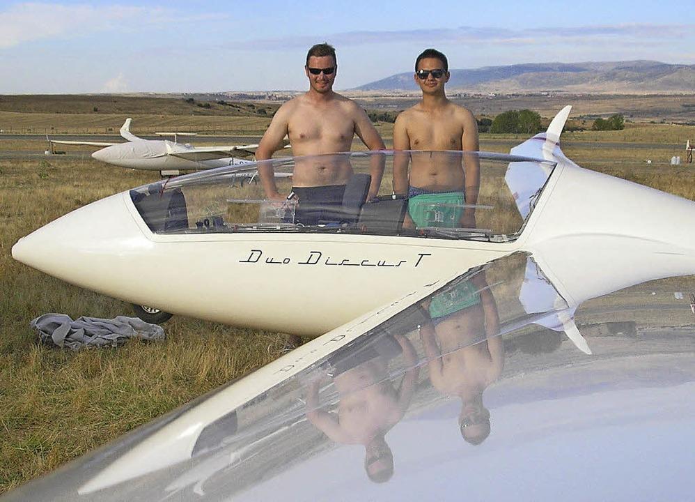Der Duo Discus der Segelfluggruppe Weh...1030,7 Kilometer weit durch die Luft.   | Foto: Verein