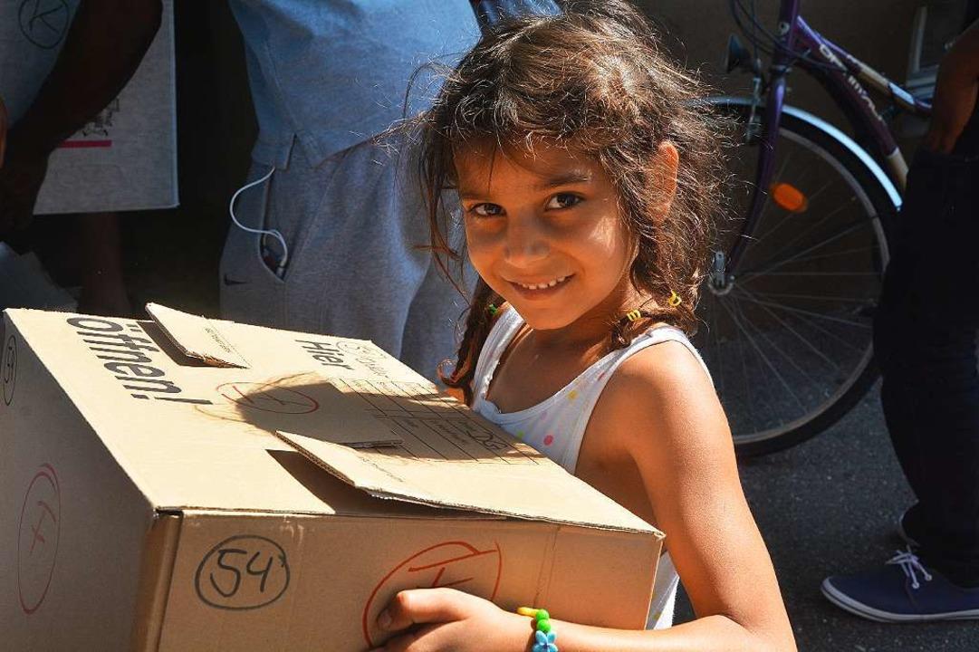 Ankunft in der Unterkunft: ein Flüchtlingskind   | Foto: Ruda