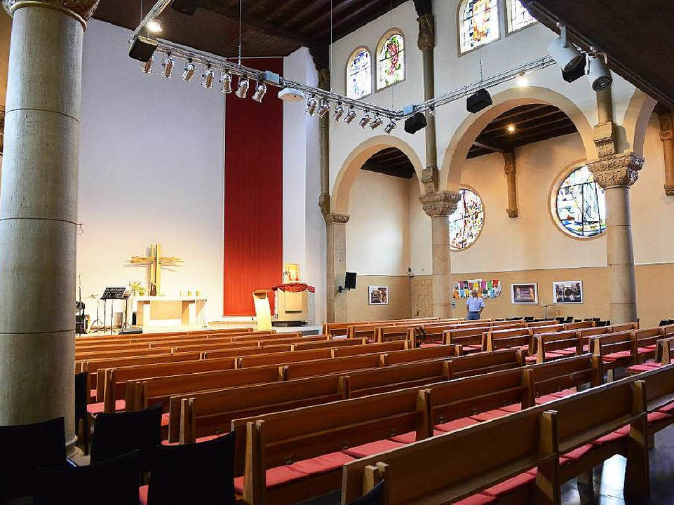 Die Pauluskirche liegt über dem Paulussaal.    Foto: Rita Eggstein