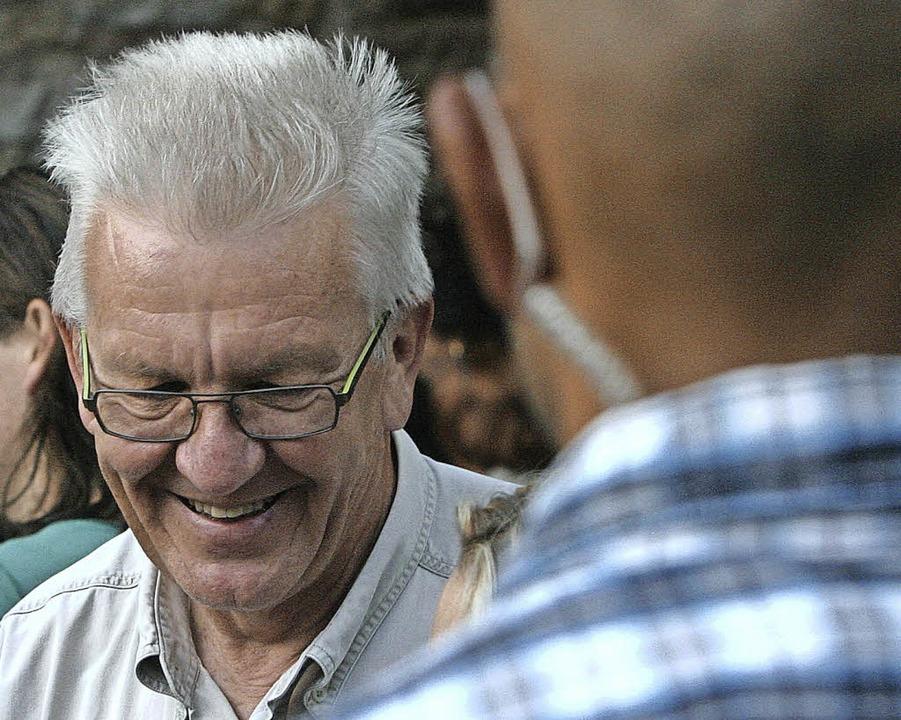 Winfried Kretschmann auf dem Emmendinger Weinfest  | Foto: Patrik Müller