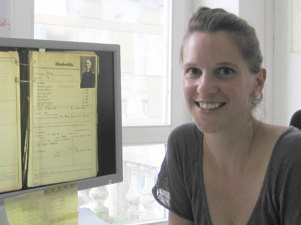 Historikerin Marie Muschalek erforscht...esatzung des Elsass von 1940 bis 1945.  | Foto: Wulf Rüskamp