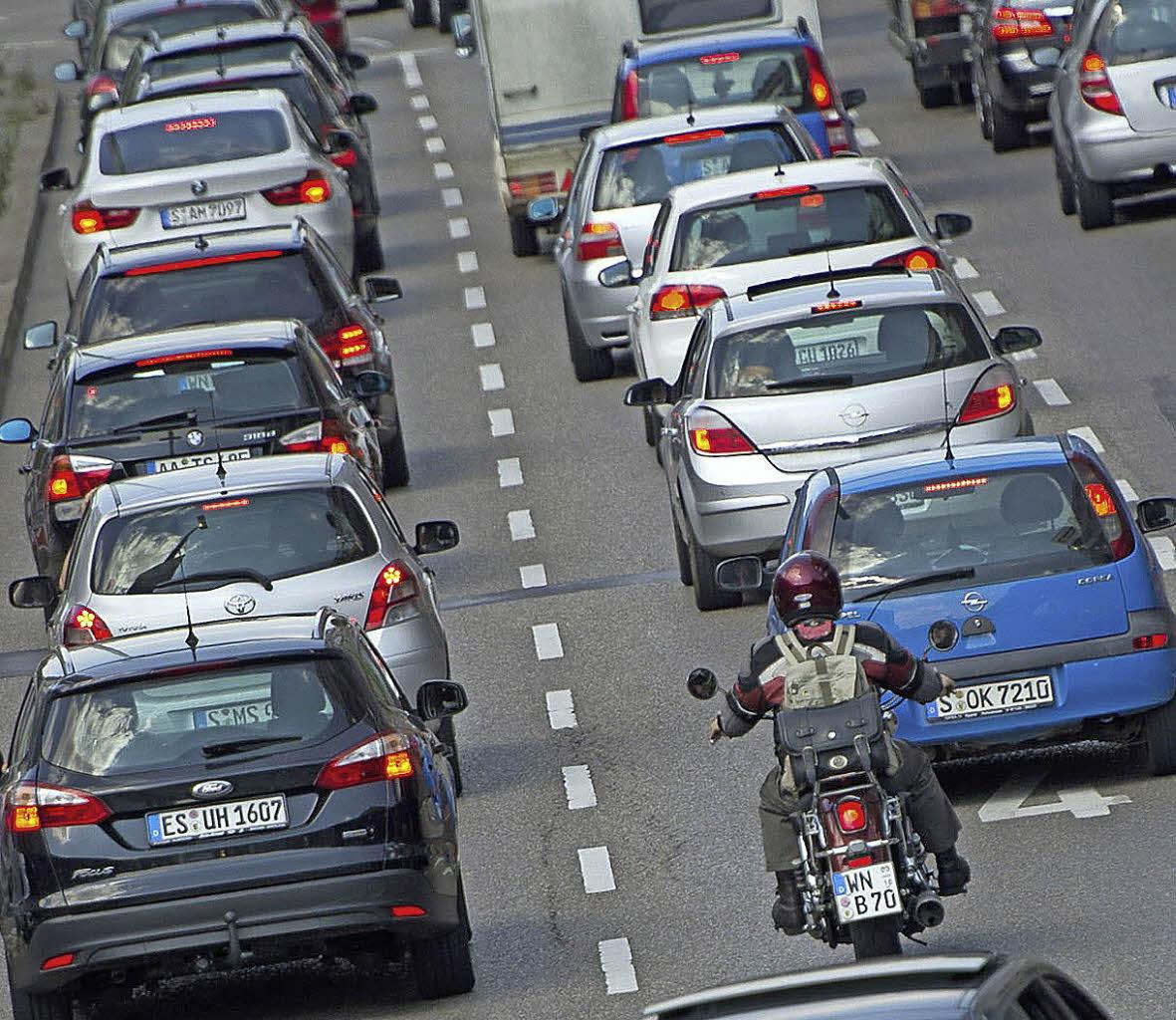 Wer im Stau steht, dem nutzt auch eine hohe Motorleistung nichts. Foto ...