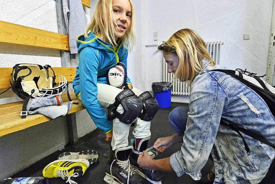 Impressionen von der BZ-Ferienaktion Eishockey. (Foto: Michael Bamberger)