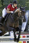 Reiter und Pferde trotzen der Hitze
