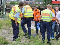 T�dlicher Unfall: Brummifahrer will auf fahrenden Zug springen
