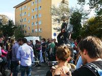 Reaktion auf Räumung: Willkommenszelt-Aktivisten demonstrieren