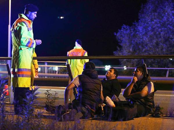 Drei syrische Flüchtlinge wurden bei der Grenzkontrolle zwischen Salzburg und Freilassing gestoppt.
