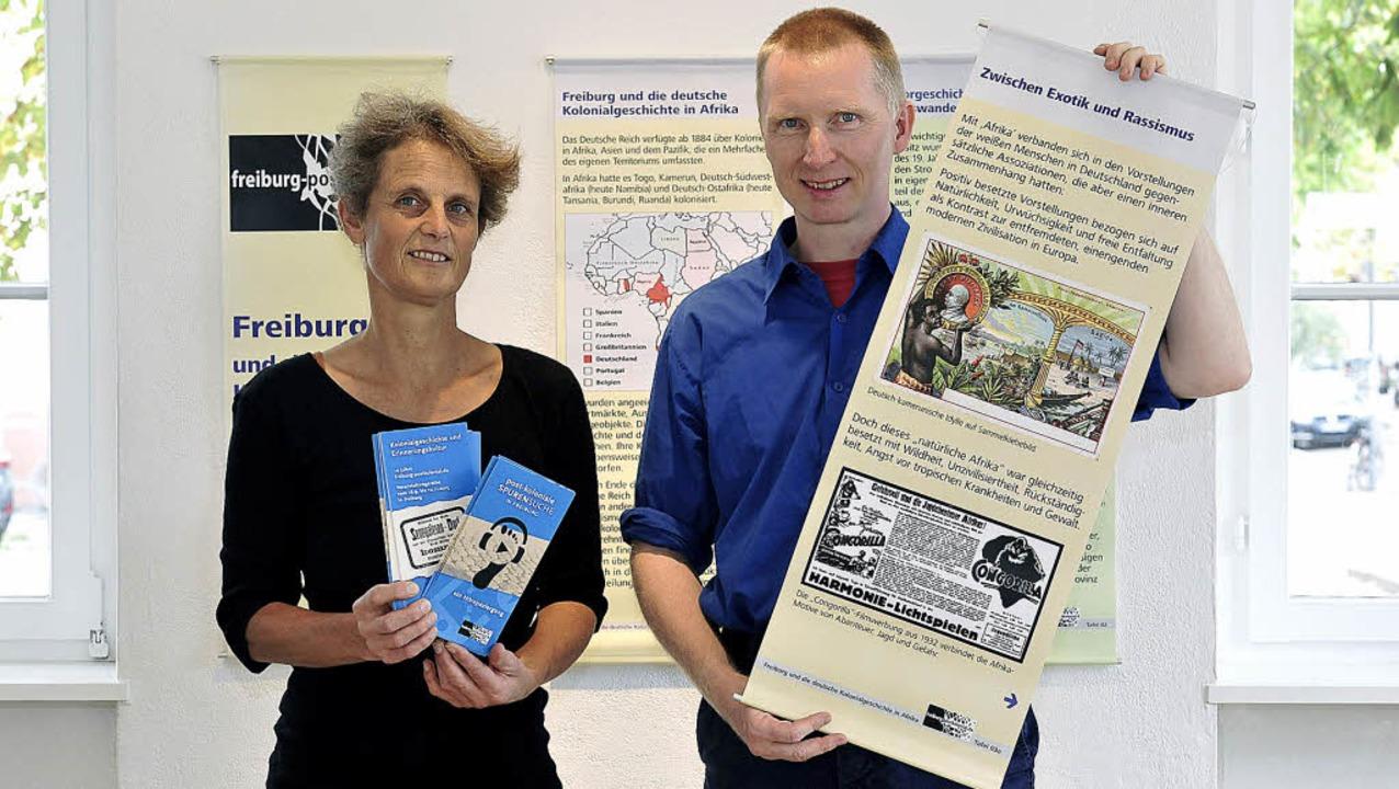 Martina Backes  und Heiko Wegmann in d...l der großen Kolonialismus-Reihe ist.     Foto: th. kunz